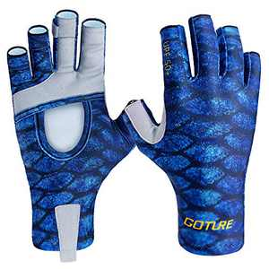Goture UV Protection Fishing Gloves Multifunctional Gloves for Recreational and Work Easy to Take Off for Men and Women Kayaking Paddling Biking Hiking