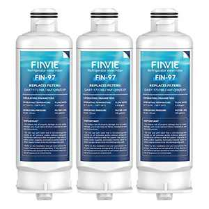 FINVIE DA97-17376B Water Filter Compatible with HAF-QIN, HAF-QIN/EXP,DA97-08006C, Samsung Refrigerator Water Filter Replacement, 3PACK