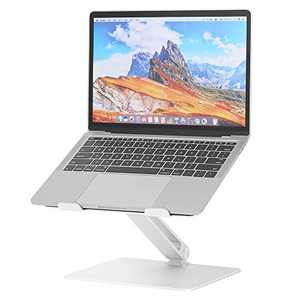 Dreamsoule Laptop Stand, Ergonomic Adjustable Laptop Riser with Slide-Proof Silicone & Protective Hooks & Cooling Function, Notebook Stand Holder for MacBook Pro/Air, (11-15.6 inch)
