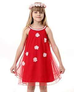 Girl Summer Tulle Dress Cotton Casual Halter Neck Sleeveless Tank Dress Outfit Flower Girl Cold Shoulder Beach Sundress Red 4T