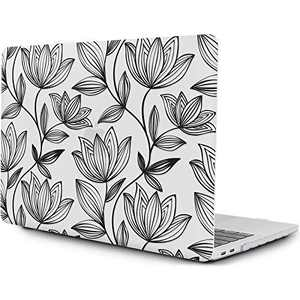 "OneGET Laptop Case for MacBook Pro 16 inch Case(2019 Release A2141), Painting Flower Pattern Hard Case with TPU Keyboard Skin & HD Screen Protector, Fit for New MacBook Pro 16"" with Touch Bar (F48)"