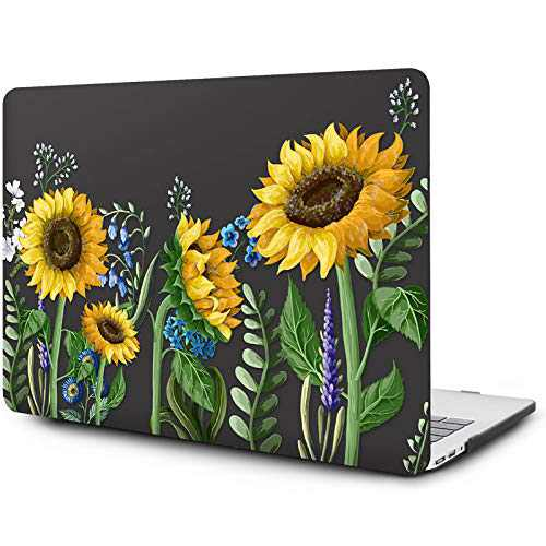 OneGET Compatible with MacBook Air 13 inch Case (A1369 & A1466, Older Version 2010-2017 Release), Painting Flower Pattern Hard Case with TPU Keyboard Cover & Screen Protector (F50)