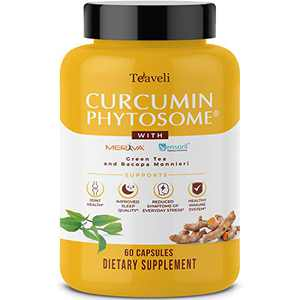 Premium Joint Support Supplement with Clinically Studied Meriva Curcumin Phytosome & Sensoril Ashwagandha Extract- Powerful Joint Supplement, Sleep Aid & Stress Management for Women & Men- 60 Capsules