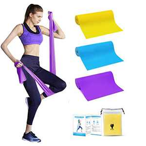 Resistance Bands, Professional Non-Latex Elastic Exercise Bands, 5 ft. Long Stretch Bands for Physical Therapy, Yoga, Pilates, Rehab, at-Home or The Gym Workouts, Strength Training(3pcs)