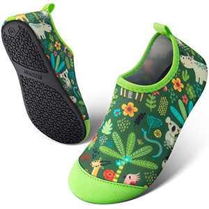 SEEKWAY Toddler Kids Water Shoes Boys Girls Quick Dry Lightweight Barefoot Anti Slip Aqua Socks for Outdoor Sports Summer Swim Beach Pool Aquatics(Jungle,8.5-10 Toddler