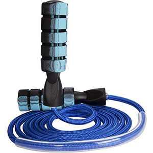 FutureCharger Jump Rope, Skipping Rope Adjustable Tangle-Free Jumping Rope, Speed Jump Rope, Jump Rope Workout, Weighted Jump Rope, Jump Ropes for Adults Fitness, Training, Women, Man, Kids Blue