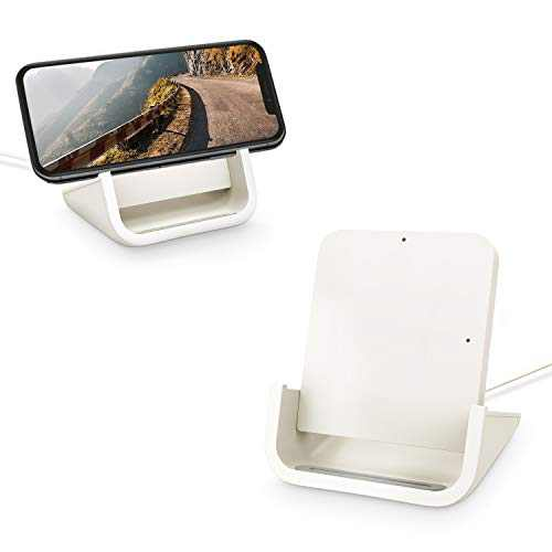 Wireless Charger YUWISS Wireless Charging Stand Cordless Charger Qi-Certified 10/7.5/5W Compatible with iPhone 11/11Pro/11Pro Max/XR/XS Max/XS/X/8/8Plus, Galaxy S10/S9/S9+/S8/S8+, Note 10/9/8