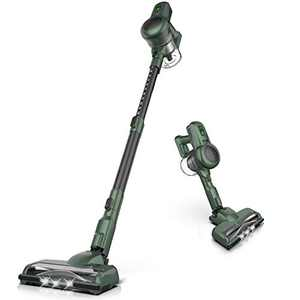 ORFELD Cordless Vacuum Cleaner, Ultra-Lightweight and Upright Stand Stick Vacuum, 4 in 1 Handheld Vac, for Hardwood Carpet Pet Hair Car (Green)