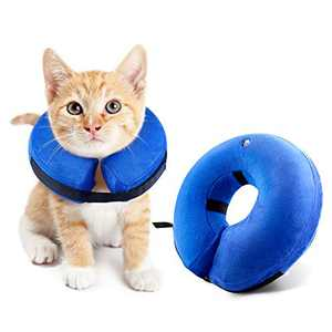pozzolanas Soft Pet Recovery Collar Dogs Not Block Vision E-Collar - Protective Inflatable Collar for Dogs and Cats (S)