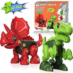 Dinosaur Toys for 3 4 5 6 7 8 Year Old Boys,Educational Learning Stem Building Toys for Kids Ages 4-8,Birthday Gifts for Boys Girls Age 3 4 5 6 7 8 (Green)