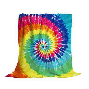 King Dare Colorful Tie Dye Sofa Blanket, Lightweight Travel Blanket, Cozy Plush Keep Warm Throws Blankets for Baby/Kids/Youth/Adult 60x80 inch