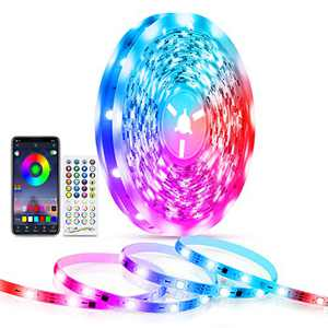LED Lights for Bedroom 32.8 ft, TASMOR Bluetooth Led Strip Lights with App Control and Remote Music Sync Color Changing LED Light Strip for Home, Party Decoration