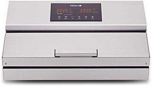 TINVOO VS960S Vacuum Sealer Machine, Professional Automatic Vacuum Packing Machine for Dry or Moist Food Saver Sous Vide Cooking - Starter Kit Smart Touch Stainless Steel Commercial Grade(Chef Series)