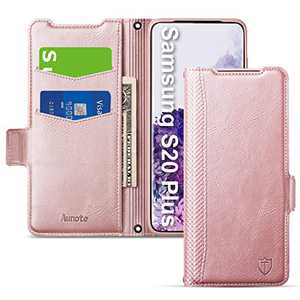 Aunote Samsung S20 Plus Wallet Case, Samsung Galaxy S20 Plus Flip Case with Card Slots, Magnetic Closure, Kickstand, TPU+PU Leather Folio Phone Cover Full Protective for Samsung S20Plus. Rose Gold