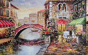 "Jigsaw Puzzles for Adults 1000 Piece Large Puzzle, Water City Paintings Jigsaw Puzzle - 27.56"" x 22"""