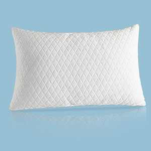 Fraylon Premium Standard Adjustable Loft Pillow - Hypoallergenic Cross-Cut Memory Foam Fill - Washable Cover from Bamboo Derived Rayon - Breathable Bed Pillow for Back, Stomach, Side Sleepers