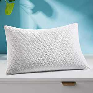 Fraylon Premium King Adjustable Loft Pillow - Hypoallergenic Cross-Cut Memory Foam Fill - Washable Cover from Bamboo Derived Rayon - Breathable Bed Pillow for Back, Stomach, Side Sleepers