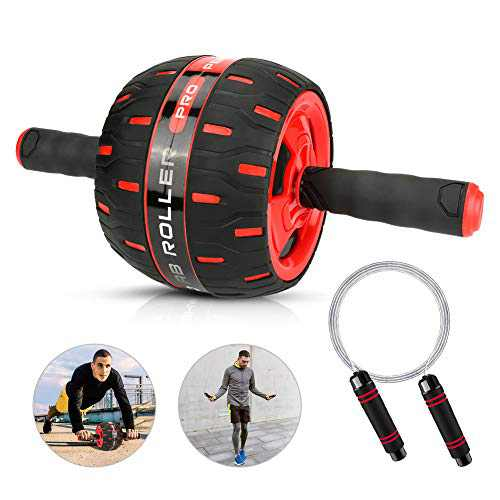 Intsun Ab Roller Wheel 5'' Wider Abs Wheel Exercise Equipment with 10ft Jump Rope Ab Trainer Workout Machines for Women Men Core Strength & Abdominal Trainers, Exercise & Fitness Home Gyms