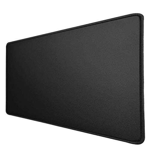 Large Desk Mat Gaming Mouse Pad NX75D Table Protector Desktop Play Mat for Wired or Wireless Magic Mouse, Apple MacBook, Surface, Lenovo, Samsung Laptop, Office, Home & Web Cafe, Large Size - Black