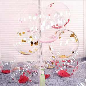 10 Pcs 36-inch Clear Bobo Bubble Plastic Balloons for LED Bobo Balloons LED Light Up Balloons for Christmas, Wedding, Birthday Party Decorations (Led String Not Included) (10 Pcs, 36 Inches)