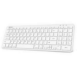 OMOTON iPad Keyboard with Numeric Keypad, Ultra Slim Wireless Bluetooth Keyboard for iPad Air 10.9/10.5, iPad Pro 12.9/11, iPad 8th 7th Gen 10.2, iPad 9.7, iPad Mini and More, White