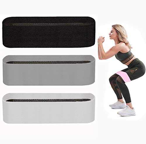 NOOFORMER Resistance Bands for Legs and Butts Booty Bands Set - Anti Slip Fabric Exercise Workout Hip Resistance Loop Band for Women Men