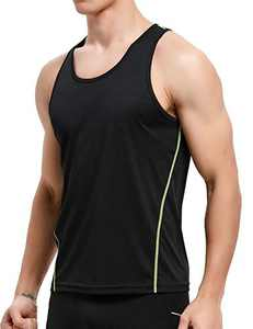 APRAW Men's 3 Pack Quick Dry Tank Tops Compression Muscle Shirts Training Compression Baselayer (Z(No Logo Pattern) 1piece:Black, Medium)
