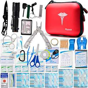 First Aid Kit for Camping and Hiking Waterproof Mini Small Kits Home Travel Car 37 Items 147 Piece