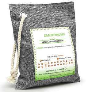 HELESIN Breathe Green Activated Bamboo Charcoal Bags for Home, Pet, Car, Closet, Bathroom, Basement, Litter Box, Shoe (1 Pcs)