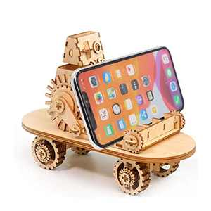 3D Wooden Puzzle for Kids Adults Car Model Puzzle, Mechanical Puzzle DIY Assembly Puzzle Toys Brain Teaser Games, Cell Phone Stand Phone Holder for Office Desk