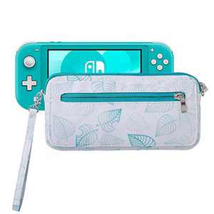 Lamyba Carrying Case for Nintendo Switch with Game Card Slots and Shoulder Strap, Inspired by Animal Crossing New Horizons,New Leaf