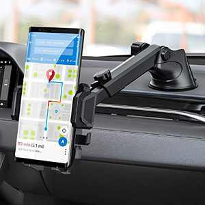 Upgraded Cell Phone Holder for Car, Universal Manords Dashboard Windshield Car Phone Mount Compatible with iPhone 11 Pro Xs XR X 8 7 Plus SE, Samsung Galaxy S10 S10+ S9,Note 10,LG, Huawei and More