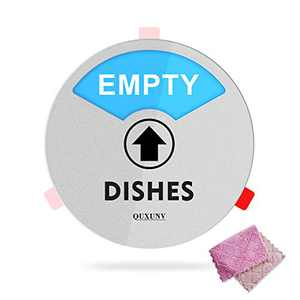 Dishwasher Magnet,Dishwasher Clean Dirty Magnet Sign 6 Inch Big,Suitable for All Dishwashers,Including Strong Magnets,Non-Marking Double-Sided Tape Fixation and Strong Decontamination Towels