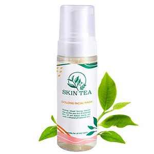 Skin Tea Oolong Tea Foaming Facial Cleanser - Vitamin C Skin Care Gentle Vegan Acne Face Wash, Moisturizer for Dry, Oily, Sensitive Skin and Pore, for Men, Women, Teenager Girl, 6 FL.OZ