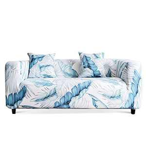 Travan Printed Sofa Cover Stretch Sofa Slipcover Spandex Couch Cover Stylish Couch Furniture Protector for 3 Cushion Couch with Two Free Pillowcases