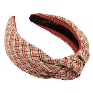 Red Headband Women Hair Accessories for Occasions . Comfy Plaid Head band is Well Made . Designer Red Knotted Headband is a Classy Red Headband . Cute Ladies Headbands Red Wide Headbands for Women