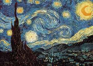KWYZ 1000 Pieces Jigsaw Puzzles for Adults - The Starry Night, Large Jigsaw Puzzle for Educational Gift Home Decor(27.56 in x 19.69 in)