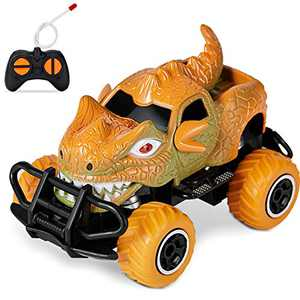 HahaGift Toys For 5 4 6 3 Year Old Boys Gifts,Remote Control Cars for Boys Dinosaur Party Favor Gifts Birthday Gifts for 3-5 Year old Boys Toys Age 2-6,Dinosaur Toys for Boys Gifts Age 3 4 6 5(Orange)