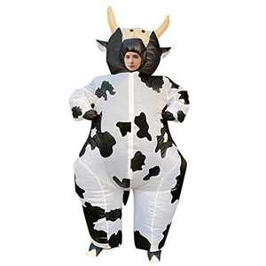 Arokibui Inflatable Cow Costume for Women Funny Animal Blow up Costume for Halloween Cosplay Party Festival Unisex Costume Adult Size