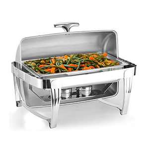 Teeker Stainless Steel High Grade Rectangular Clamshell Buffet Stove Perfect for Weddings/Parties/Brunches/Hotel Breakfast Areas/Banquets/Catering Events and self-Service environments