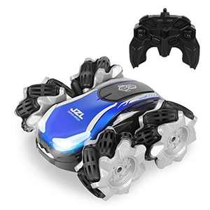 Remote Control car, KINGBOT RC Cars LED 4WD Double Sided Flips Drifting RC Car for Boy Toys, 2.4Ghz High Speed Rc Drift Cars for 3 4 5 6 7 8-12 Year Old
