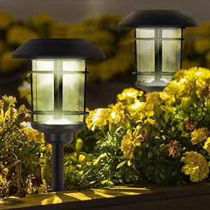 Black Waterproof Solar Landscape Pathway LED Lights Charged by Solar Power Lights Outdoor Apply to Path Light, Lawn Lights, Garden Lights or Decorate Garden Flowerbed (6)