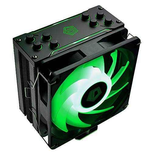 ID-COOLING SE-224-XT RGB CPU Cooler AM4 CPU Cooler 12V 4PIN RGB Cooler 4 Heatpipes CPU Air Cooler 120mm PWM Fan, Intel/AMD