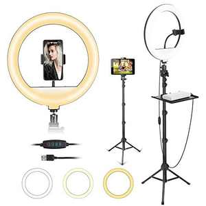 12 ''Ring Light, Professional Led Ring Light with 67 Inch Adjustable Tripod and 2-in-1 Phone and Tablet Holder for Tiktok,YouTube,Live Streaming,Studio,Vlog, Video Shooting