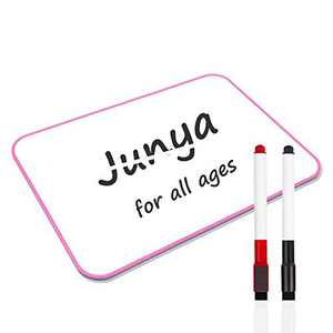 Junya Small White Board for Kids Students (11.8 x 8.3inch),Light Weight Classroom Dry Erase White Board Double Sided Small Whiteboard,Stain Resistant Portable Education Tools for Home School