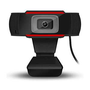 1080P HD Webcam with Dual Microphones - Webcam for Gaming Conferencing, Laptop or Desktop Webcam, USB Computer Camera for Mac Xbox YouTube Skype OBS, Free-Driver Installation Fast Autofocus Red
