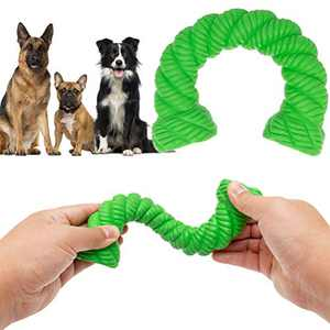 EXPAWLORER Dog Chew Toys for Aggressive Chewers - Indestructible Dog Dental Teething Toy for Medium Large Breeds, Tough Rubber Pet Toy for Puppy Small Doggy Training, Non-Toxic & Durable
