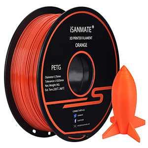 PETG Filament 1.75 mm, Red PETG iSANMATE 3D Printer Filament, Dimensional Accuracy +/-0.03mm,1kg (2.2lb) Spool,for 3D Printer