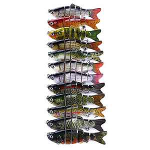 Nigun 1/3/5 Pcs Bionic Swimming Lure Fishing Bait 10cm Accessories for All Kinds of Fish