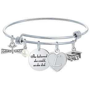 M MOOHAM Graduation Gifts for Her 2020, High School College Graduation Gifts Inspirational Graduation Bracelet